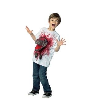 T Rex Pop Out Boys Shirt - Scary Costumes