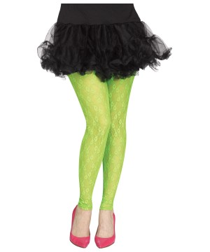 1980s Footless Green Tights