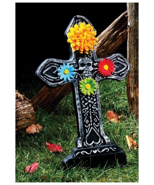 Day of the Dead Flower Tombstone Heart