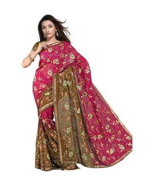 Traditional Pure Georgette Fancy Silk Saree