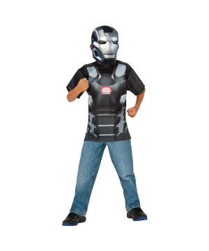 War Machine Shirt and Mask Boys Set