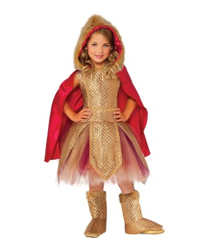 Golden Warrior Princess Girls Costume