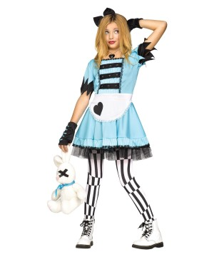 Wild Alice in Wonderland Girls Costume