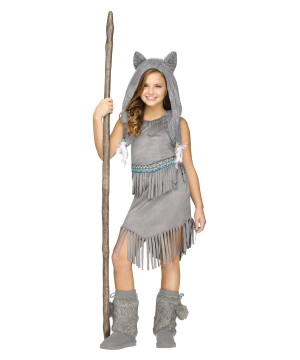 Wolf Dancer Indian Girls Costume
