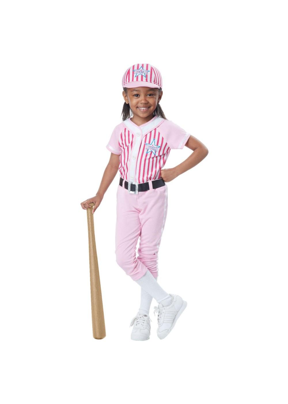 Baseball Player Baby Girls Toddler Costume Sports Costumes