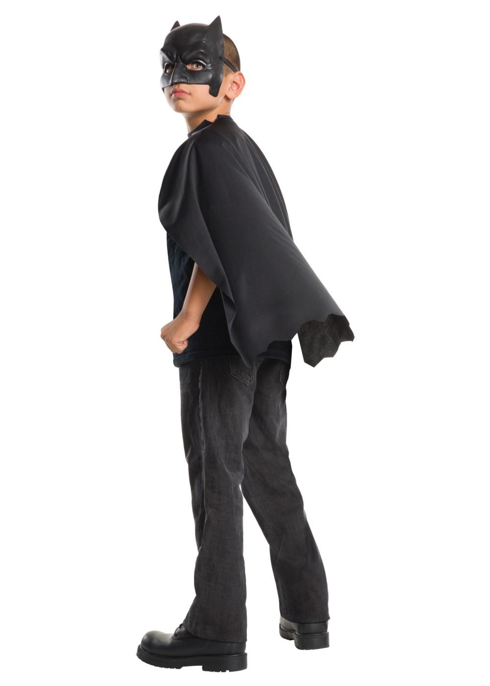 batman cape with mask boys costume set