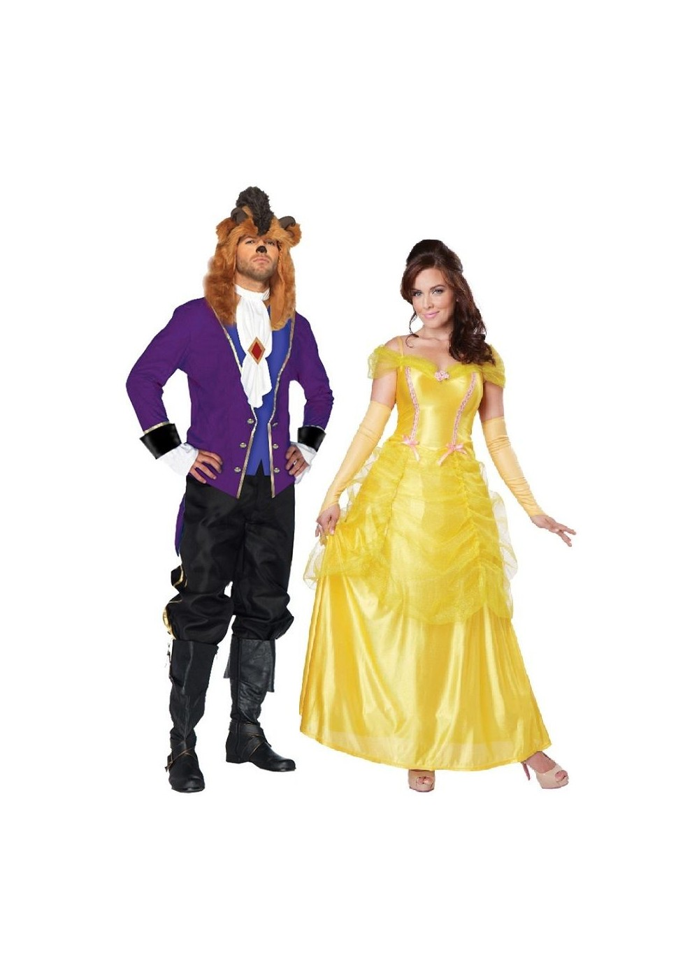 Beauty and the Beast Xlarge Couple Costume Kit - Couples ...