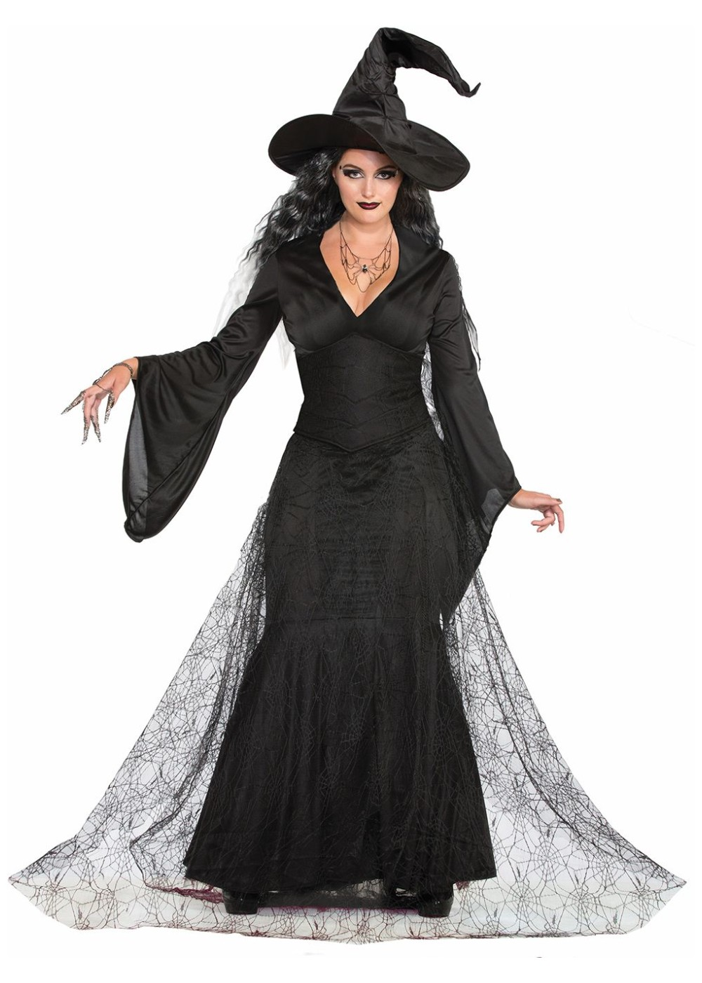 Black Mist Witch Women Costume on food of the 1950s