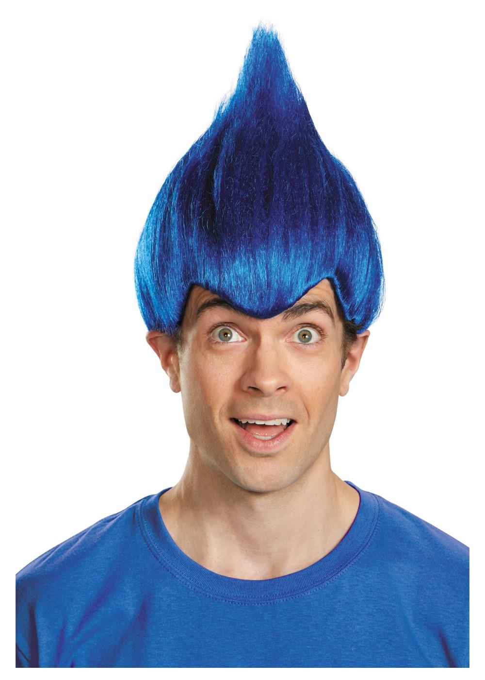 Dark Blue Wacky Troll Wig Wigs