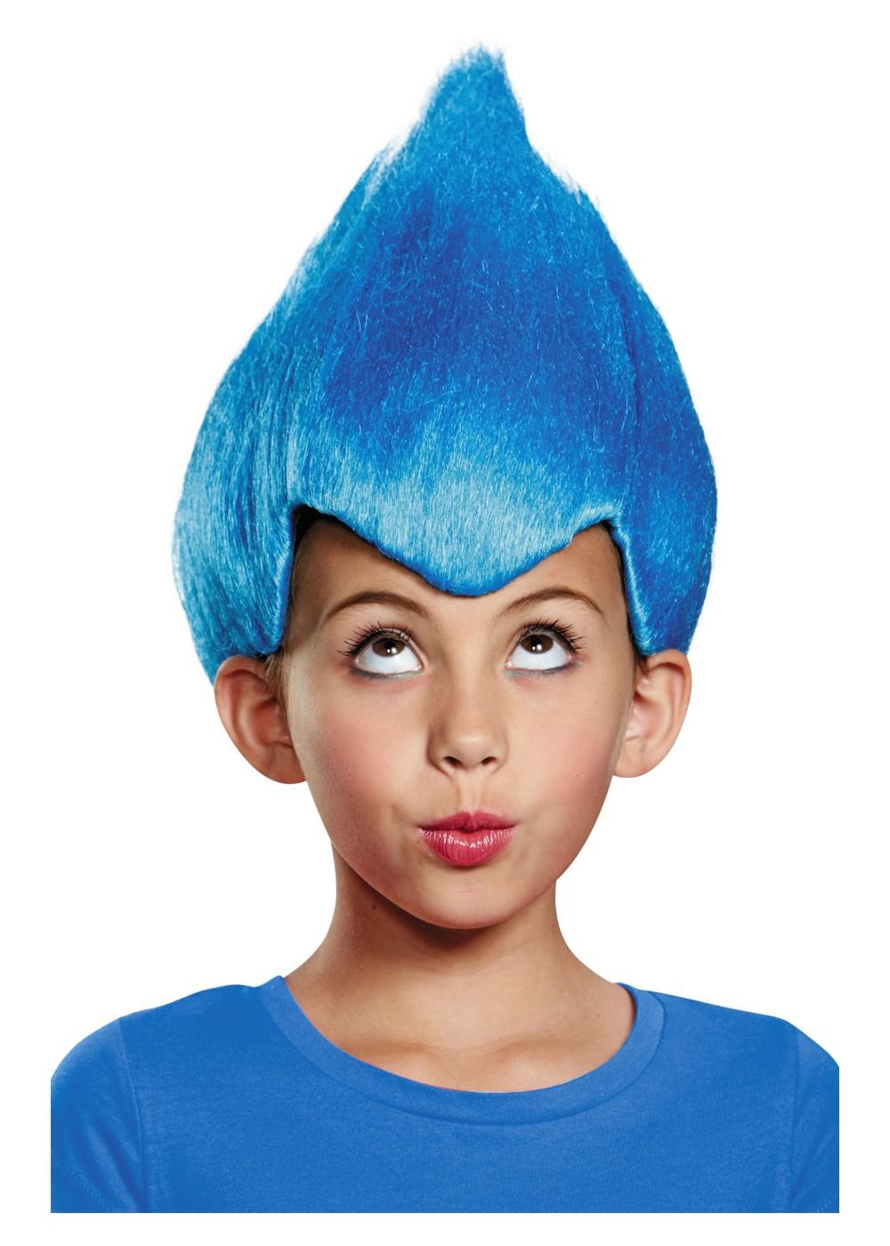 Kid S Blue Wacky Troll Wig Wigs