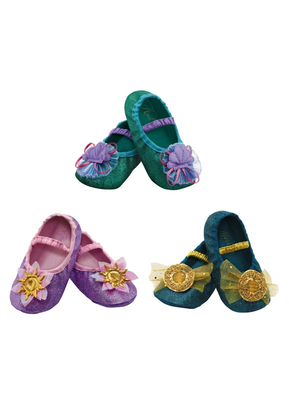 Disney Princess Merida Ariel Rapunzel Slippers Kit