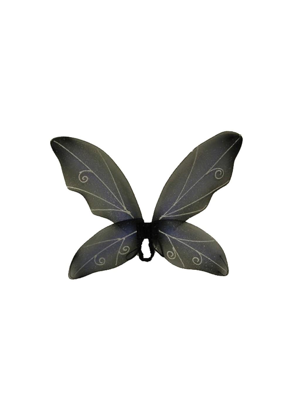 Adult Fairy Wings Blue Black Fairy Halloween Costumes