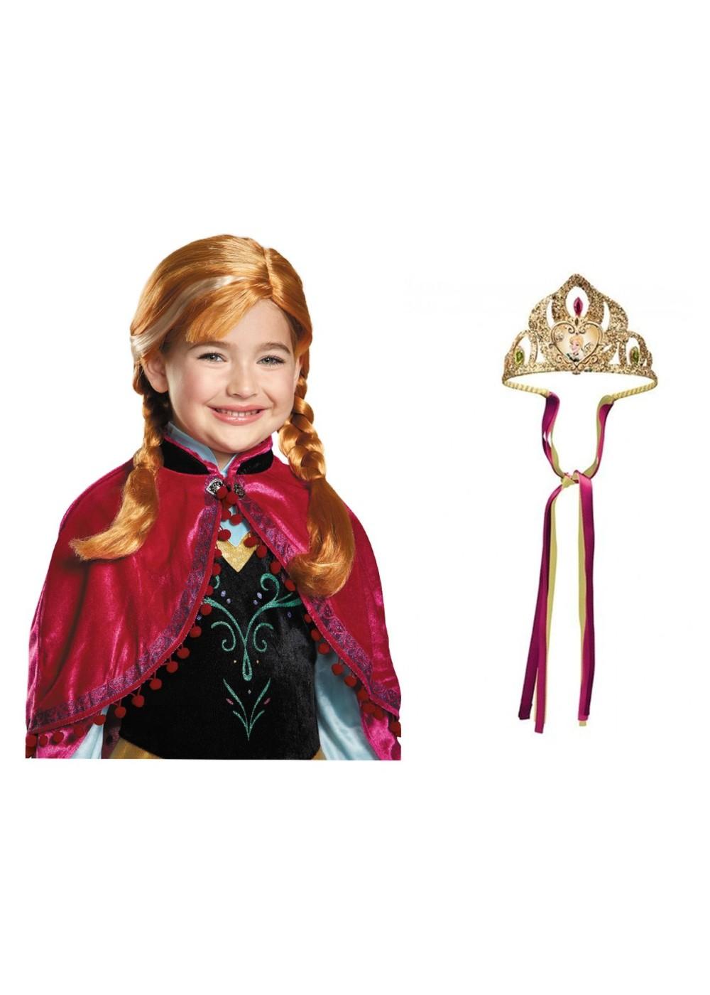 Frozen Anna Crown And Wig Set Accessories