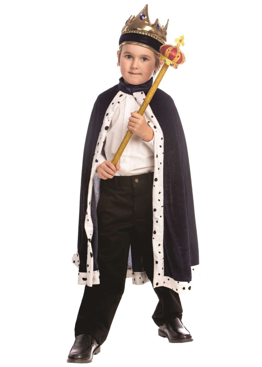 King Boys Robe Crown Set Professional Costumes