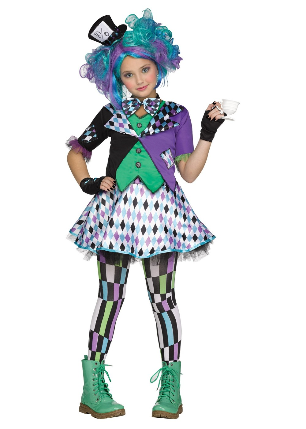 Mad Hatter Girls Costume - Movie Costumes