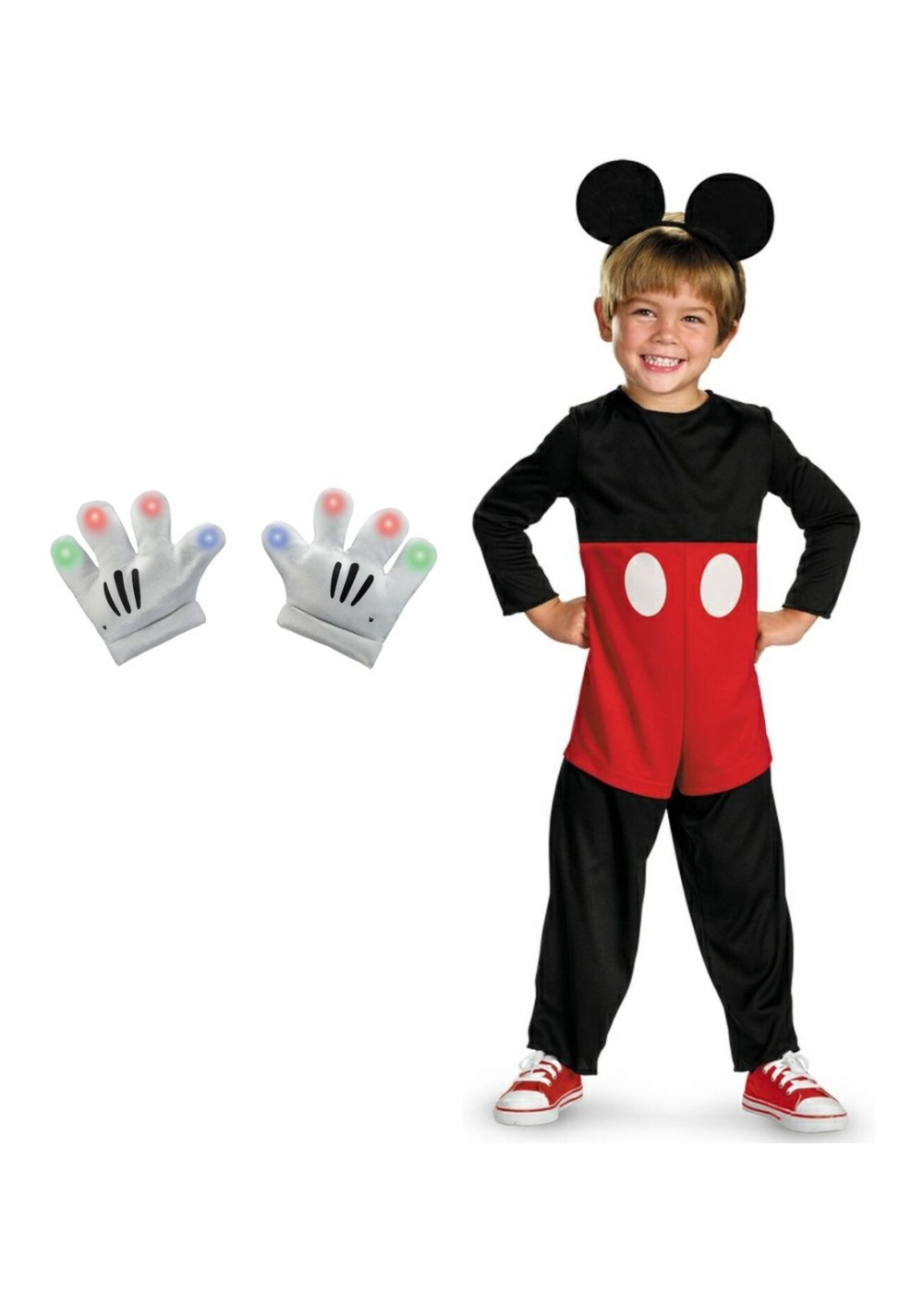 Mickey Mouse Toddler Boys Costume and Lightup Gloves Set - Disney ...
