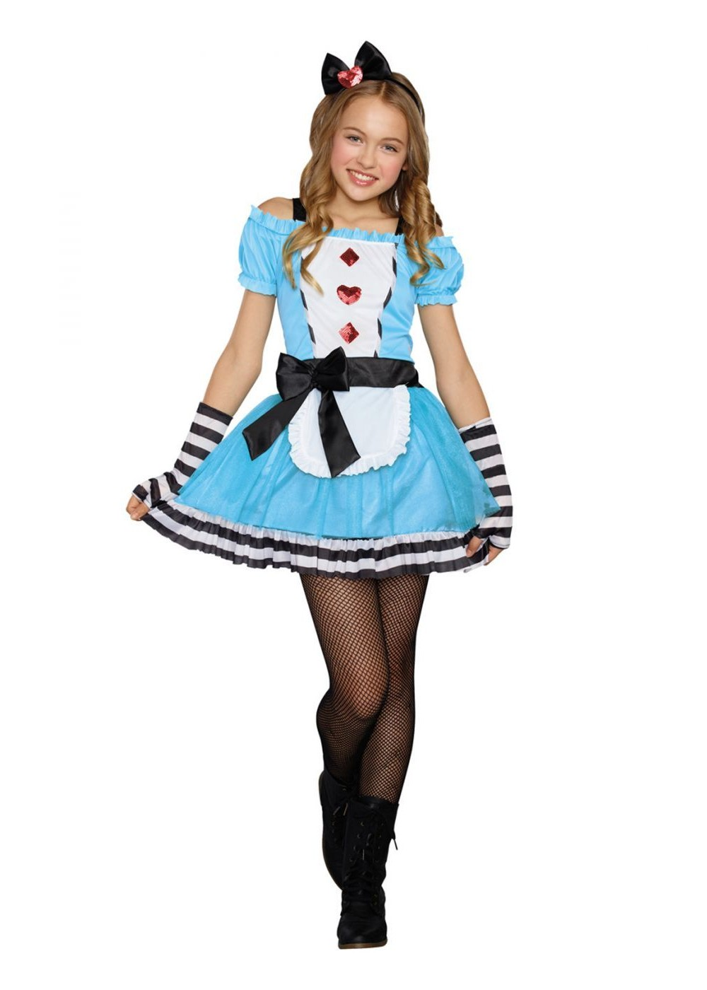 Miss Wonderland Tween Costume - Movie Costumes