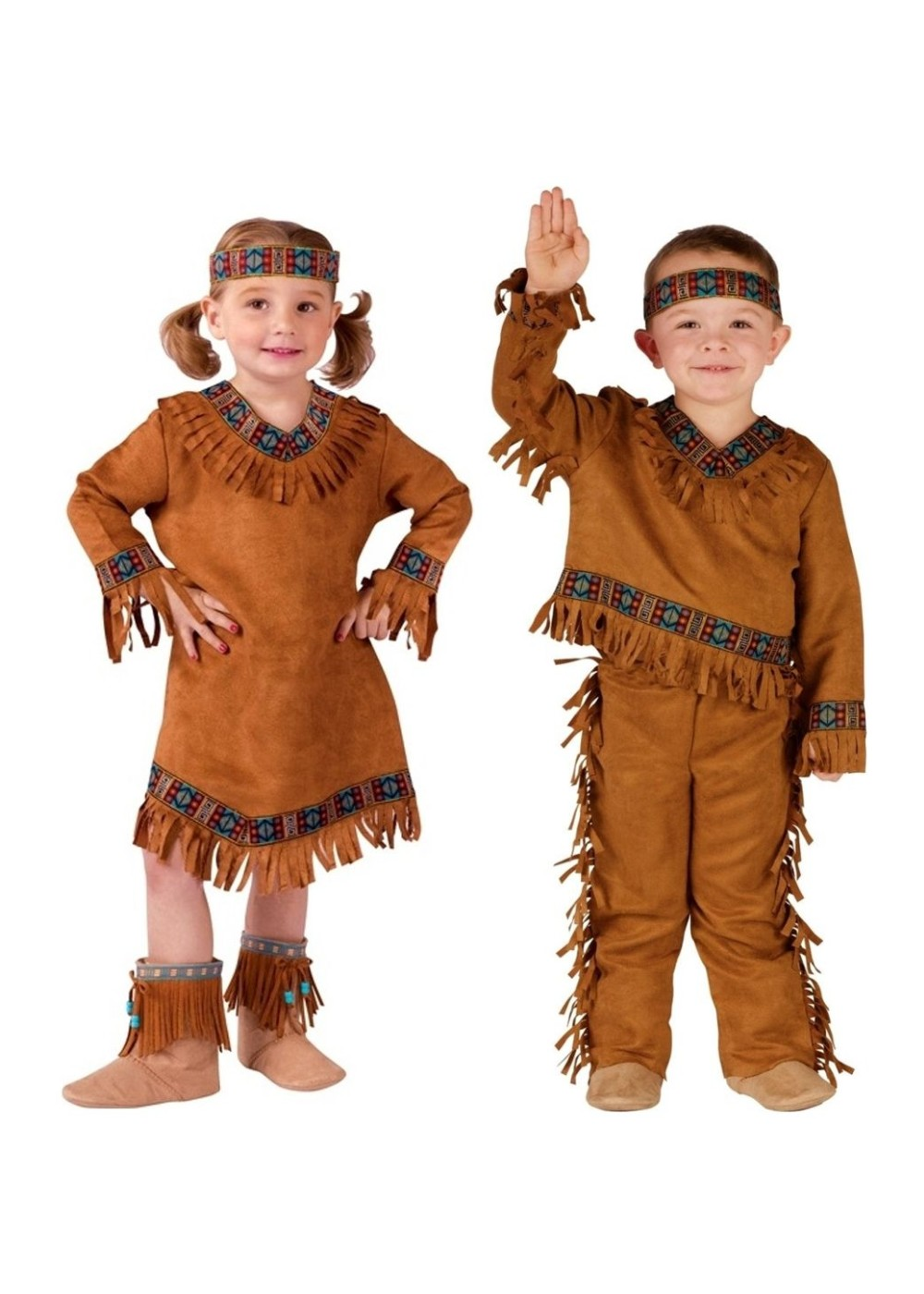 Native American Baby Boy And Baby Girls Costume Set