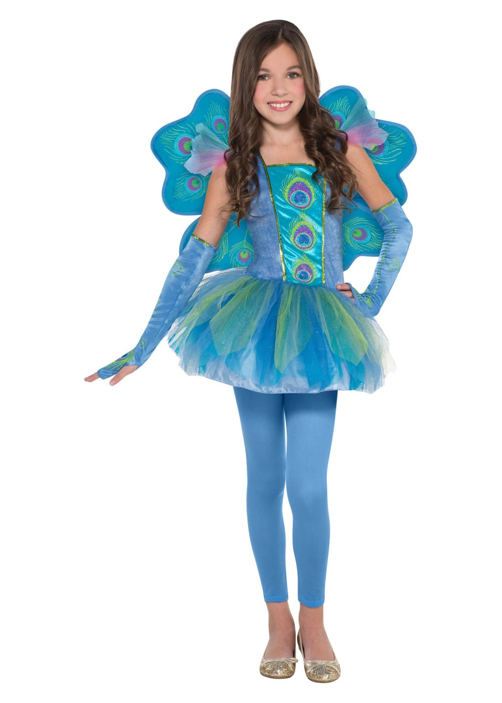 Halloween Kids Zombie Cheerleader Costume