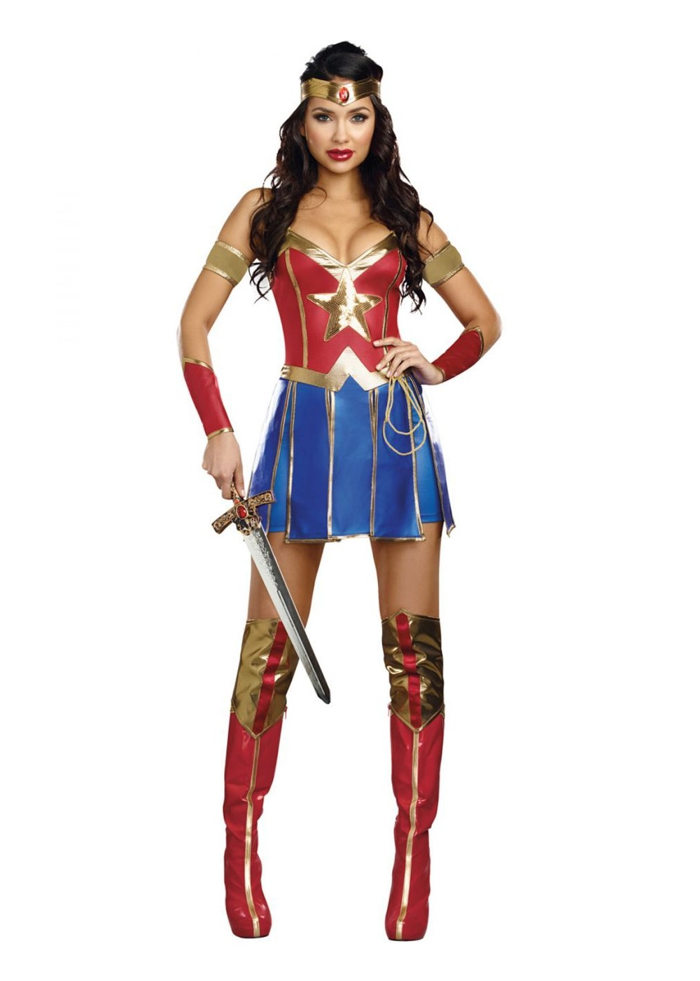 power of justice womens wonder costume superhero costumes. Black Bedroom Furniture Sets. Home Design Ideas