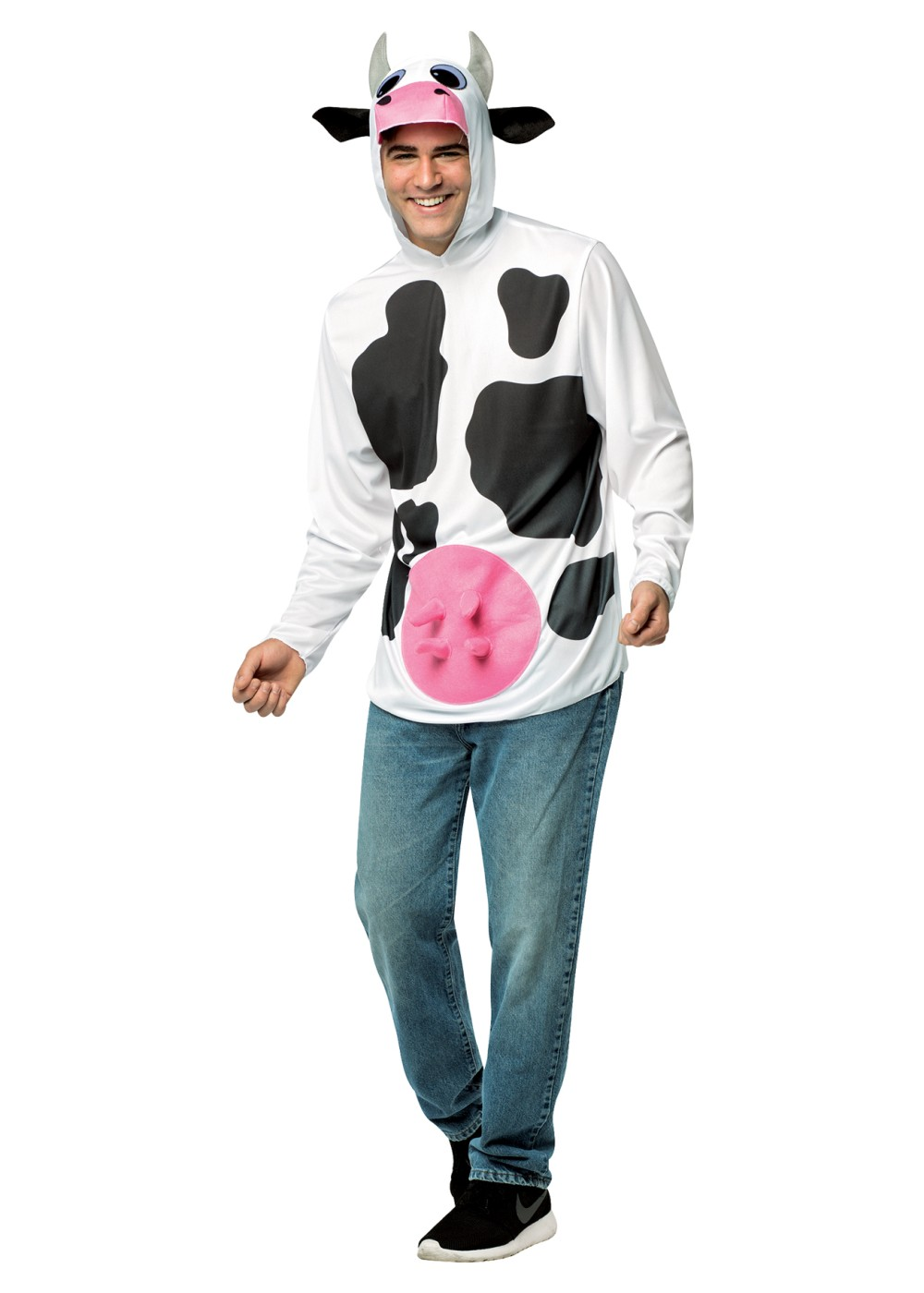 Quick cow costume hoodie animal costumes for Quick halloween costumes for toddlers