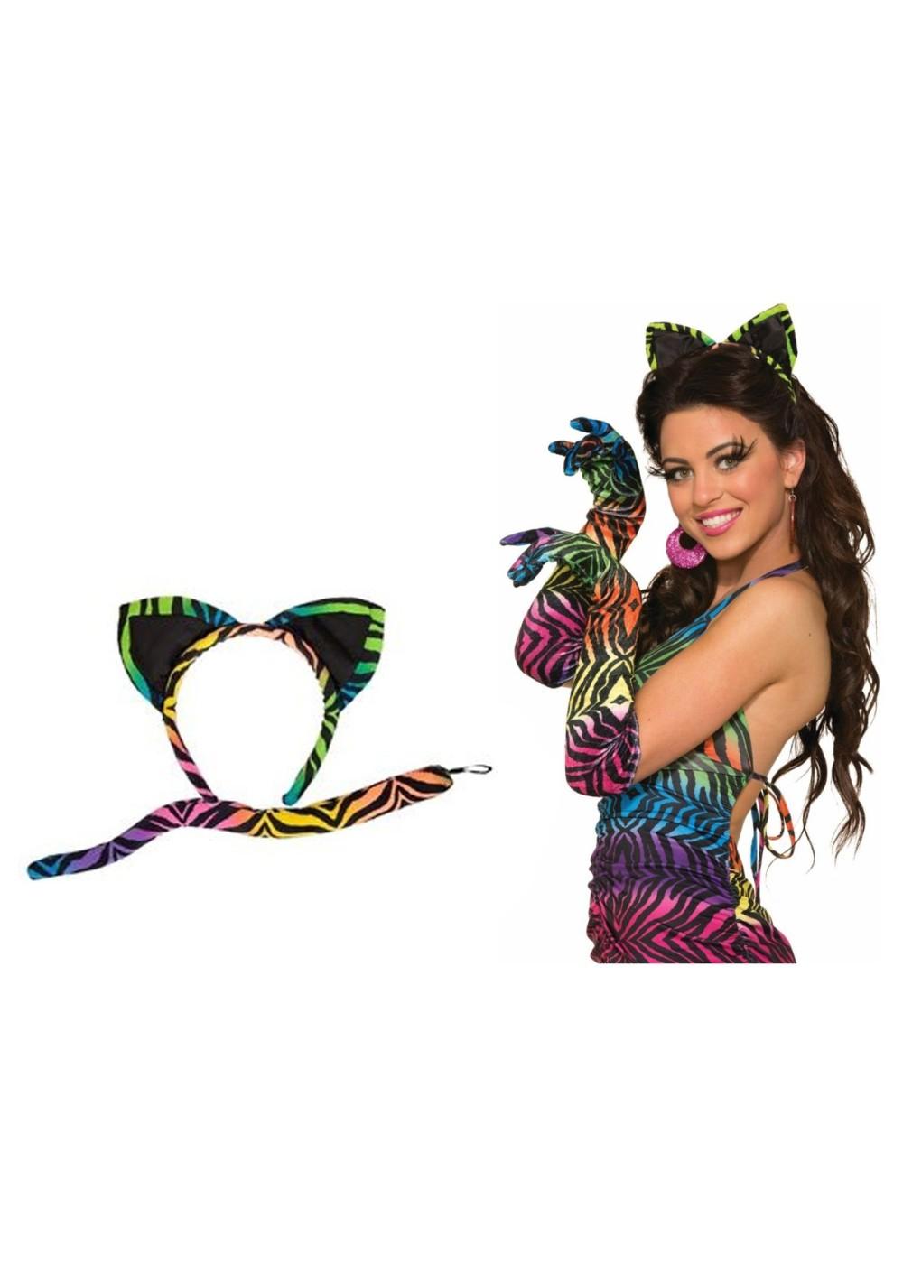 Rainbow Tiger Animal Accessory Kit