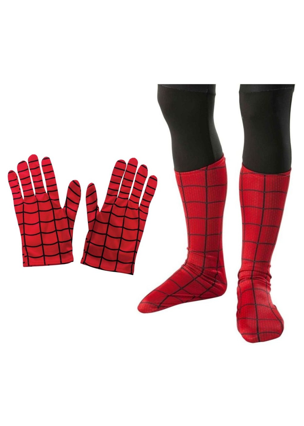 Spiderman Gloves And Boots Boys Costume Kit Superhero