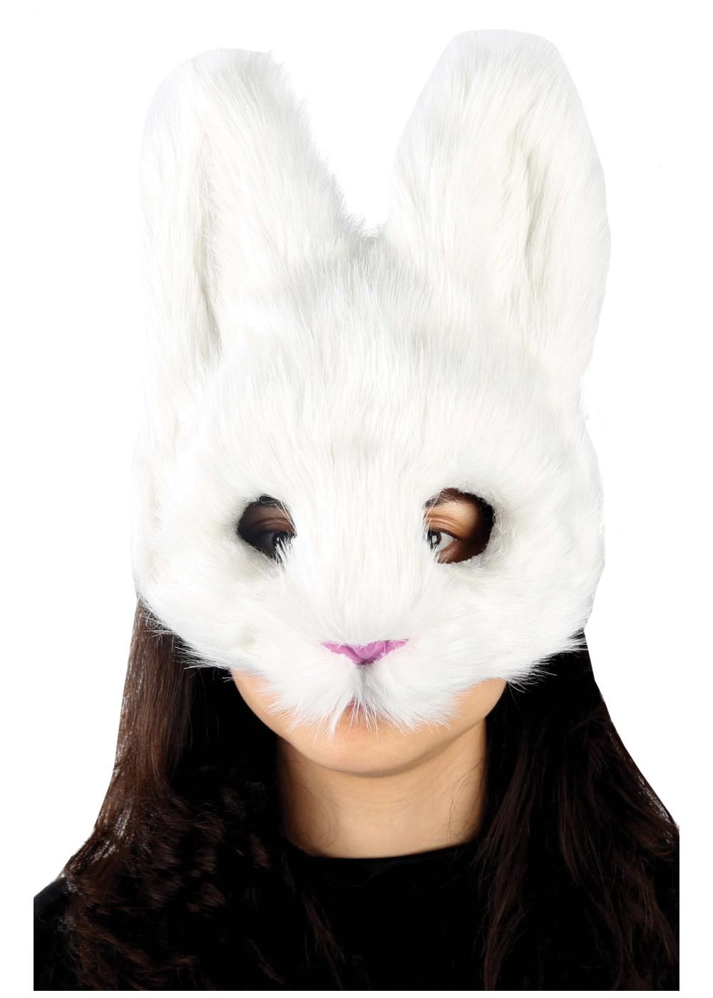 White Bunny Mask Masks