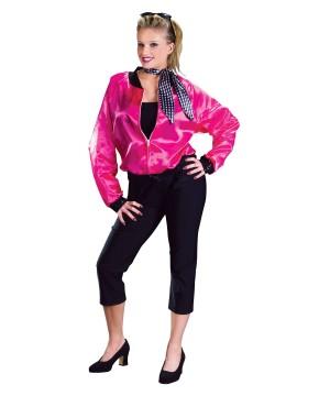 50s Rock N Roll Pink Women Jacket Costume