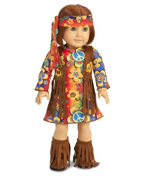 60s Fringe Doll Hippie Costume