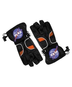 Astronaut Boys Black Costume Gloves