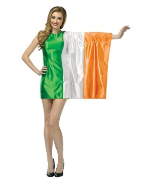 Women's Irish Flag Dress Costume