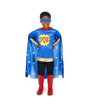 Boys Comic Pow Superhero Costume