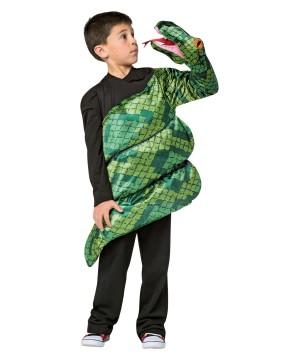 Boys Green Anoconda Costume