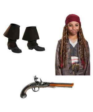 Dead Men Tell No Tales Jack Sparrow Boys Costume Accessory Set
