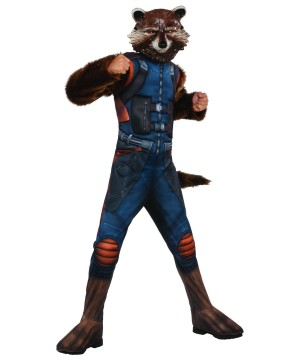 Rocket Raccoon Muscle Boys Costume