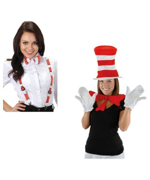 Cat in the Hat Costume Accessory Set and Suspenders