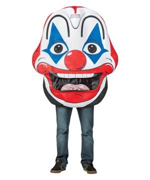 Clown Head Mens Costume