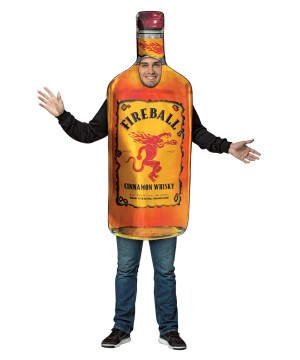 Fireball Cinnamon Whiskey Bottle Mens Costume