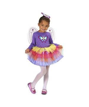 Fluttery Butterfly Girls Costume