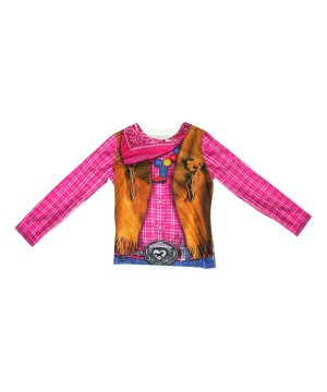 Cowgirl 3d Girls Costume Shirt