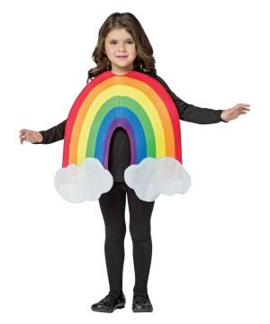Girls Rainbow Costume