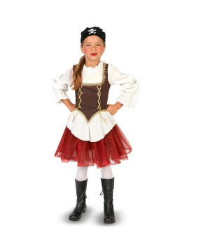 Girls Red Tutu Pirate Costume