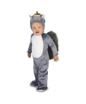 Grey Squirrel Baby Boys Costume
