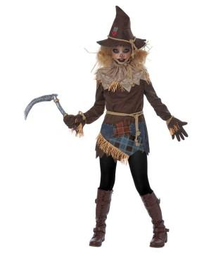 Haunting Scarecrow Girls Costume