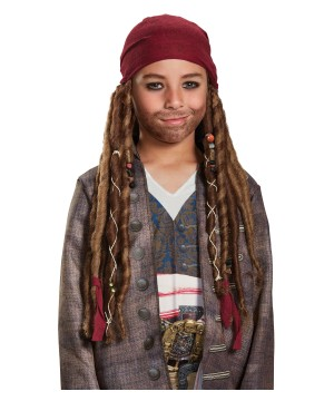 Pirates of the Caribbean Dead Men Tell No Tales Jack Sparrow Boys Bandana With Dreads