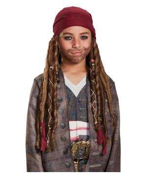 Boys Jack Sparrow Bandana With Dreads