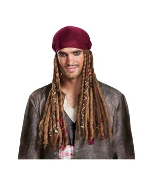 Pirates of the Caribbean Dead Men Tell No Tales Jack Sparrow Men Bandana With Dreads