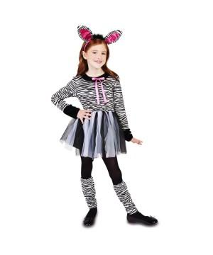 Little Girls Zebra Costume