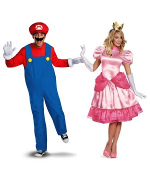 Mario and Princess Peach Couples Costume